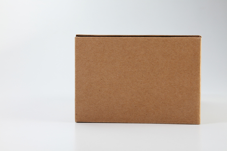 brown cardboard box on the plain background Banco de Imagens - 118515152