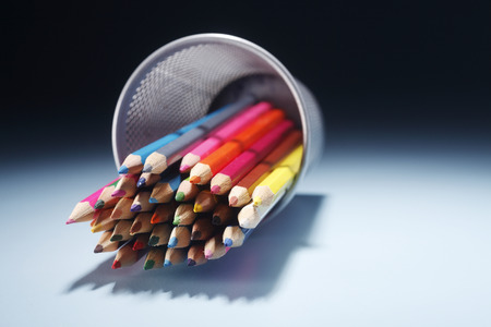 stock image of bunch of color pencil