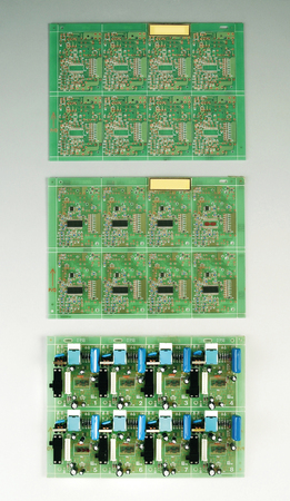 image of the circuit board on the plain background