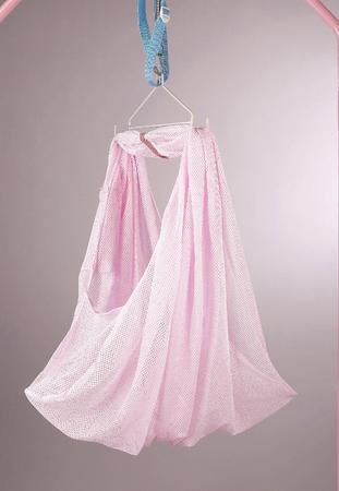 Hanging baby's cradle. Stockfoto