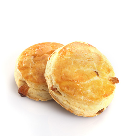Plain scones on the background.