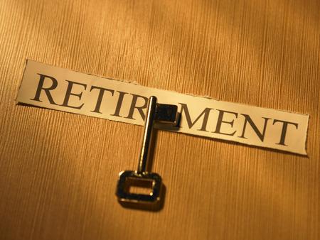 close up of key for the retirement Reklamní fotografie