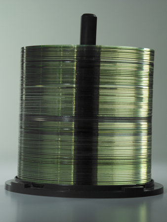 low angle view of stack of cd
