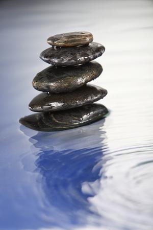 concept shot of stack of stone -zen