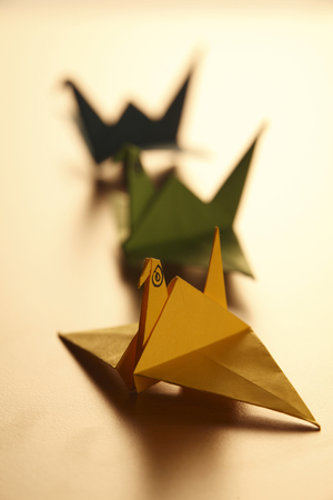 paper folded animal -origami bird