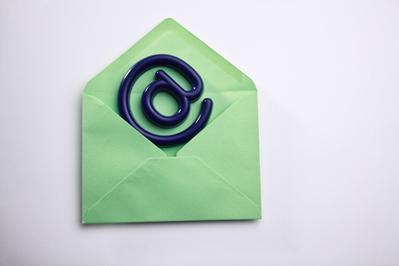 concept shot of stock image of the email