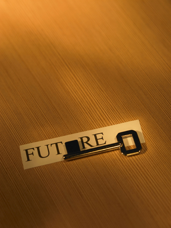 concept shot of the key for the future