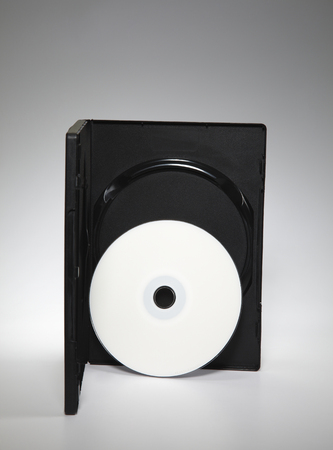 blank cd cover on the palin background Stock Photo