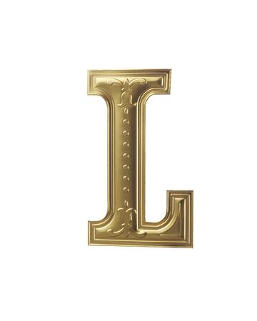 Obraz zapasowy złotego alfabetu ze ścieżką przycinającą