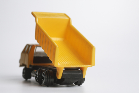 close up of the toy  truck