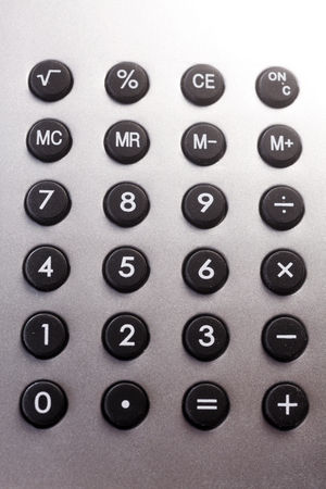 stock image of the calculator