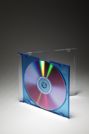 Blank CD Jewel Case. Fill it in with your own graphic. Stock Photo - 117642327