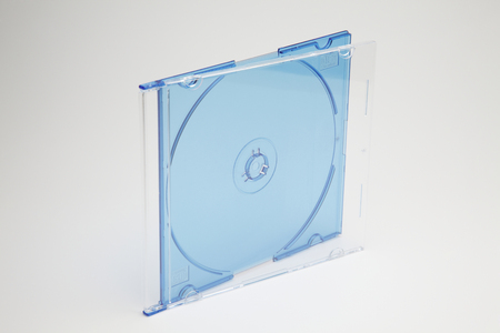 DVD case isolated on a plain background
