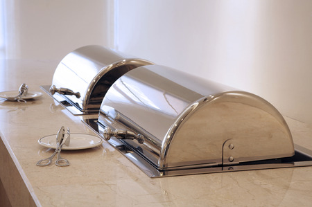 hot food warmer for buffet serving Stock Photo