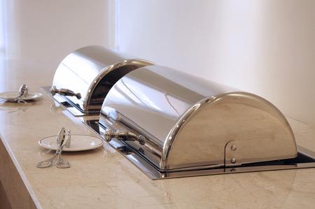 hot food warmer for buffet serving Imagens