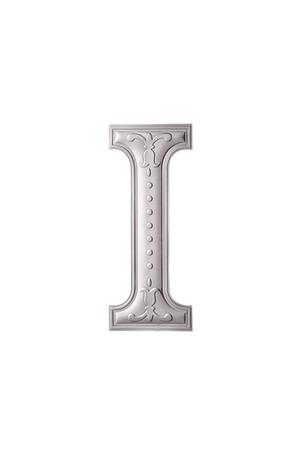 stock image of the silver color alphabet i Foto de archivo