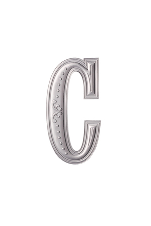 stock image of the silver color alphabet c