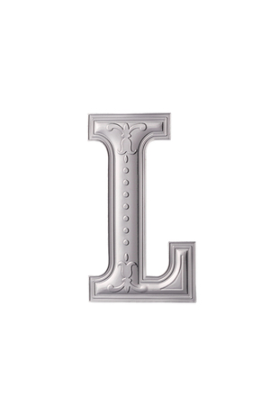 stock image of the silver color alphabet l Stock Photo