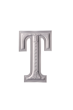 stock image of the silver color alphabet t Stock Photo