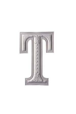 stock image of the silver color alphabet t Foto de archivo