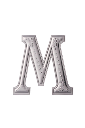 stock image of the silver color alphabet m