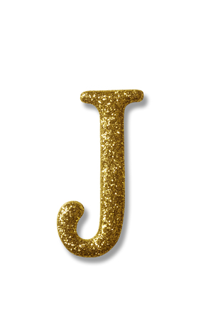 clipping path of the golden alphabet j