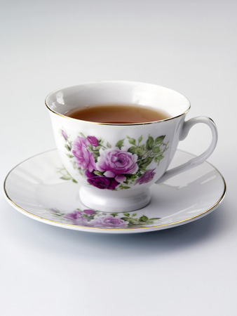 close up of the cup with tea