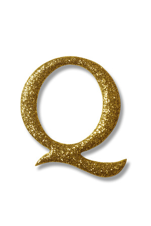 clipping path of the golden alphabet q