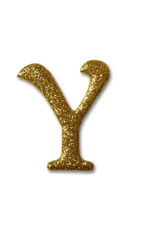 clipping path of the golden alphabet y