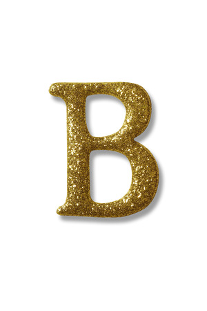 clipping path of the golden alphabet b