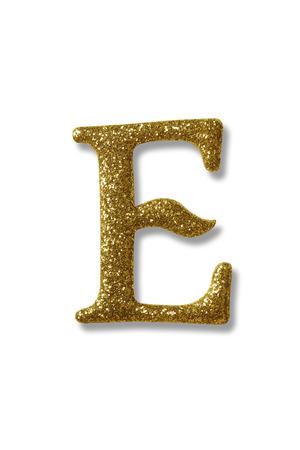 clipping path of the golden alphabet e