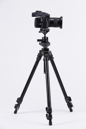 stock image of the camera mounting on the tripod