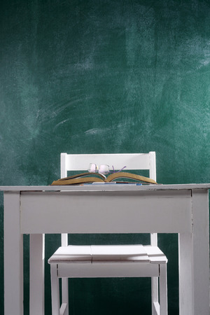 close up of the student chair and desk