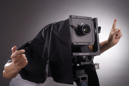 stock image of the large  format camera