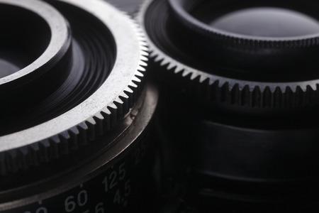 cerca del engranaje en la lente