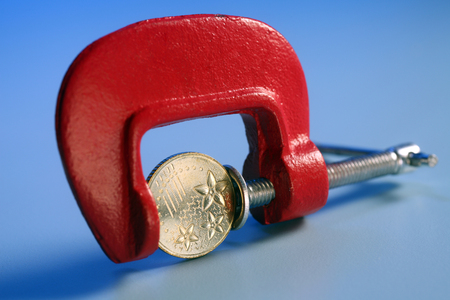 Coin Trapped in Clamp