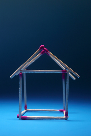 Matches in shape of house