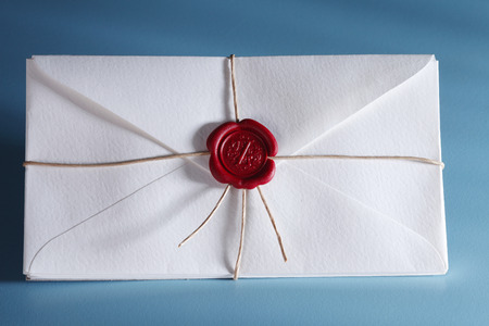 White envelope with red wax seal