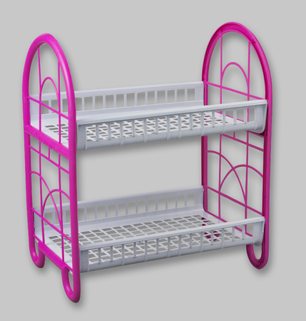 double rack of the dish drainer Stockfoto