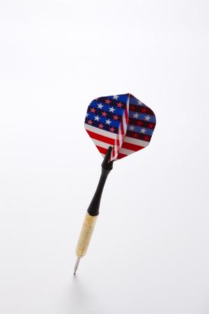 close up of the dart on the white background 版權商用圖片