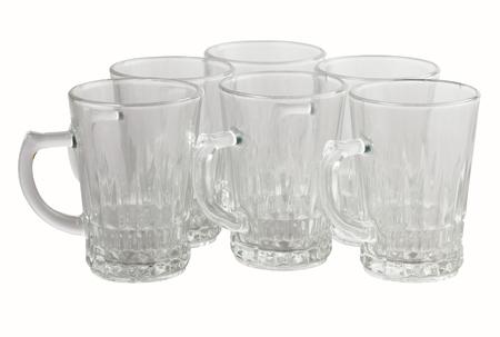 half of dozren glass mugs