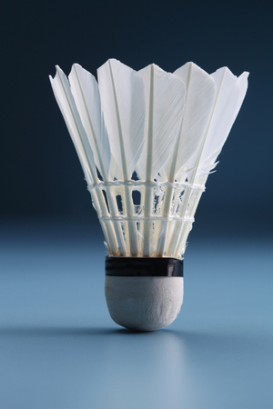 close up of the shuttlecock