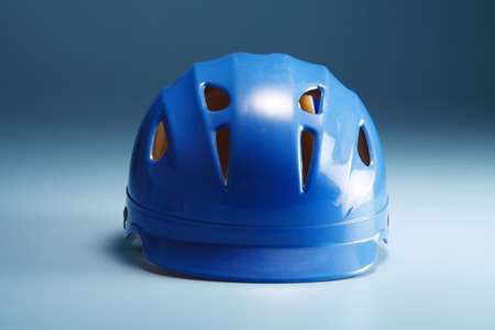 close up of the blue hardhat