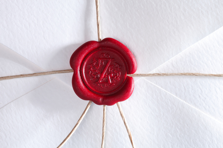 close up of Wax sealed envelope