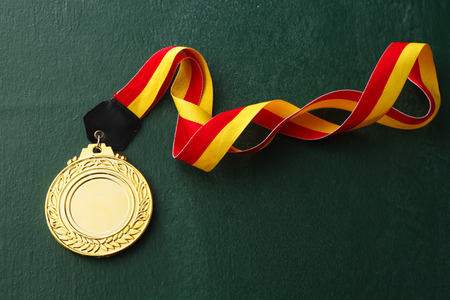 gold medals isolated blackboard Archivio Fotografico