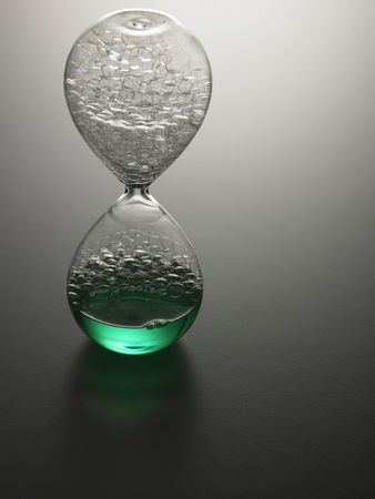 Close up of the water hour glass