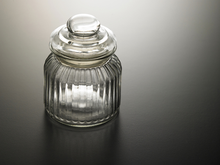 A glass jar with lid 스톡 콘텐츠