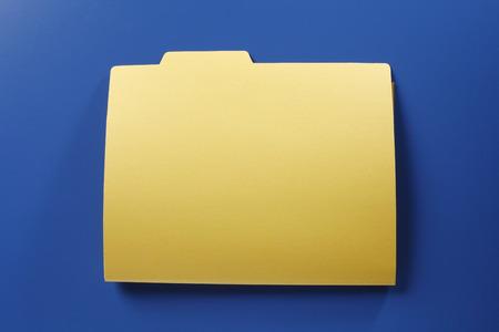 Blank File folder on the blue background Stockfoto