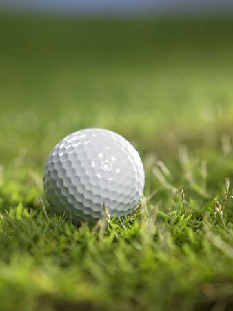 colse up of the golf ball on grass Stock fotó