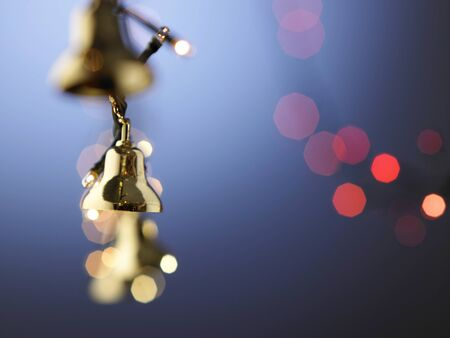 close up of the bells on the chasing light Stock Photo